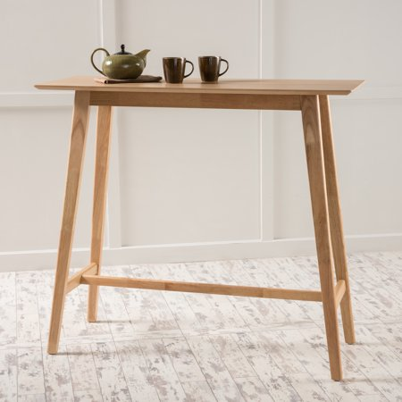 Natural Breakfast Table (Noble House Luzan Natural Oak Finish Wood Bar Table )