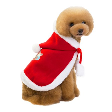 Ropalia Pet Doggy Christmas Apparel Puppy Winter Claus Cloak (Doggy Christmas)