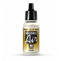 Camouflage White Grey Paint, 17ml, The pigments used for airbrush colors are ground to the finest possible consistency By Vallejo