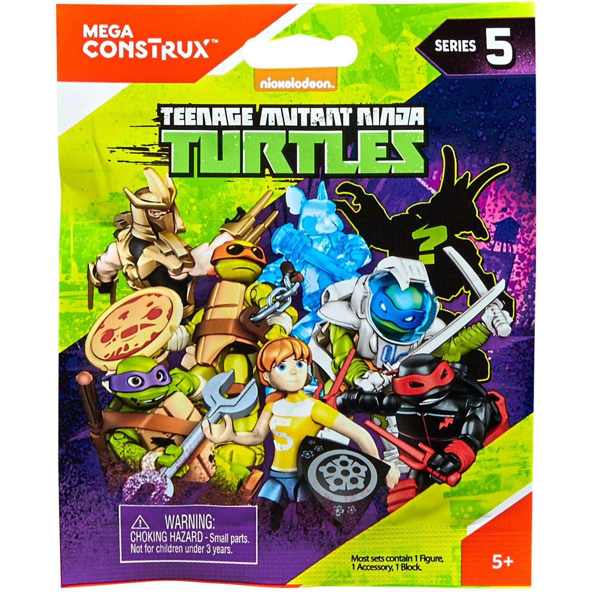 Mega Construx Teenage Mutant Ninja Turtles Micro Action Figures (Styles May Vary)