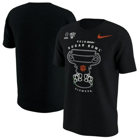 Clemson Tigers Nike College Football Playoff 2018 Sugar Bowl Bound Illustration T-Shirt - Black (Tigers College Football Helmet)