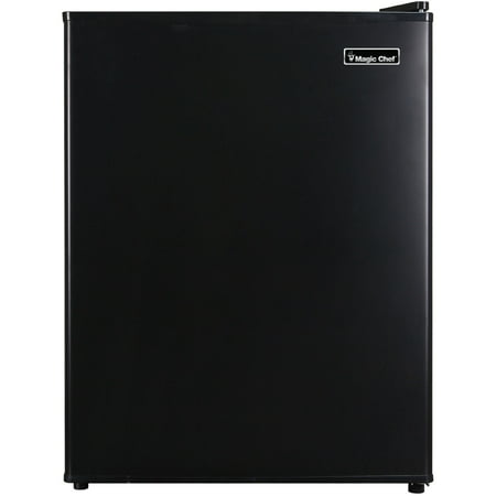 Magic Chef 2.4 Cu Ft Mini All-Refrigerator MCAR240B2, (Spt 2-4 Cu Ft Compact Refrigerator Stainless Steel)