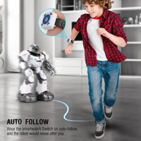 RC Toy Robot EECOO Intelligent Auto-follow Robot Singing Dancing Educational Toy with Two Control Modes(White, Blue)