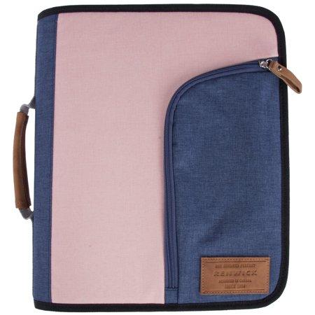Renwick 3 Ring Binder Portfolio Organizer With Tablet Sleeve Pinkpurple