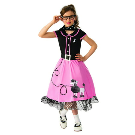 Girls 50s Sweetheart Halloween Costume (Easy Halloween Costumes For Teenage Girls Homemade)