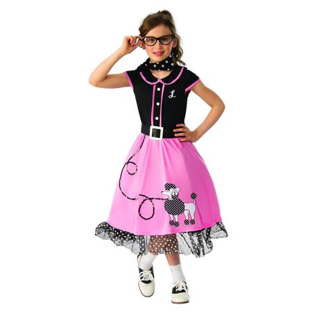 Girls 50s Sweetheart Halloween Costume (Led Halloween Costumes For Sale)