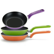 """T-fal Enjoy 8"""", 9.5"""", & 11"""" Green Fry Pan Combo Pack, 3 Count"""