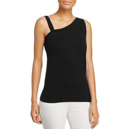 Avec Womens One Shoulder Sleeveless Pullover Top