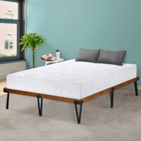 GranRest 14 inch Metal and Wood Platform Bed, Full