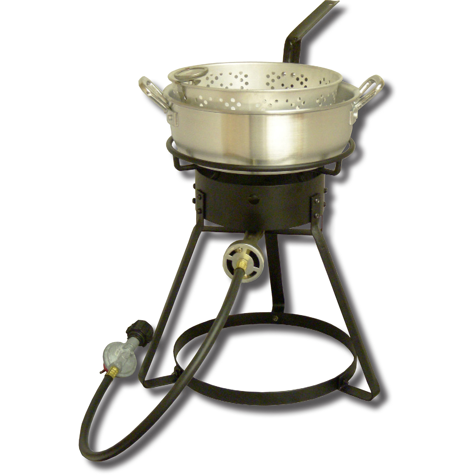 "King Kooker 16"" Bolt-Together Propane Outdoor Cooker Package with Aluminum Fry Pan and Basket"