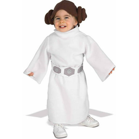 Star Wars Princess Leia Fleece Toddler Halloween Costume, for ages 1-2 years, 24 - Star Wars Costumes For Babies
