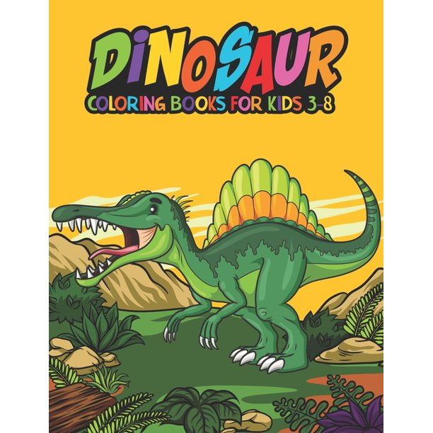 Dinosaur Coloring Books For Kids 3 8 Fantastic Dinosaur Coloring Kids Book With 50 Diplodocus Tyrannosaurus