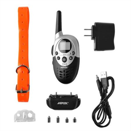 1000 Yard Waterproof Rechargeable Remote Training Dog Collar with Vibration and Electric Shock for 1 Dog by AGPtek