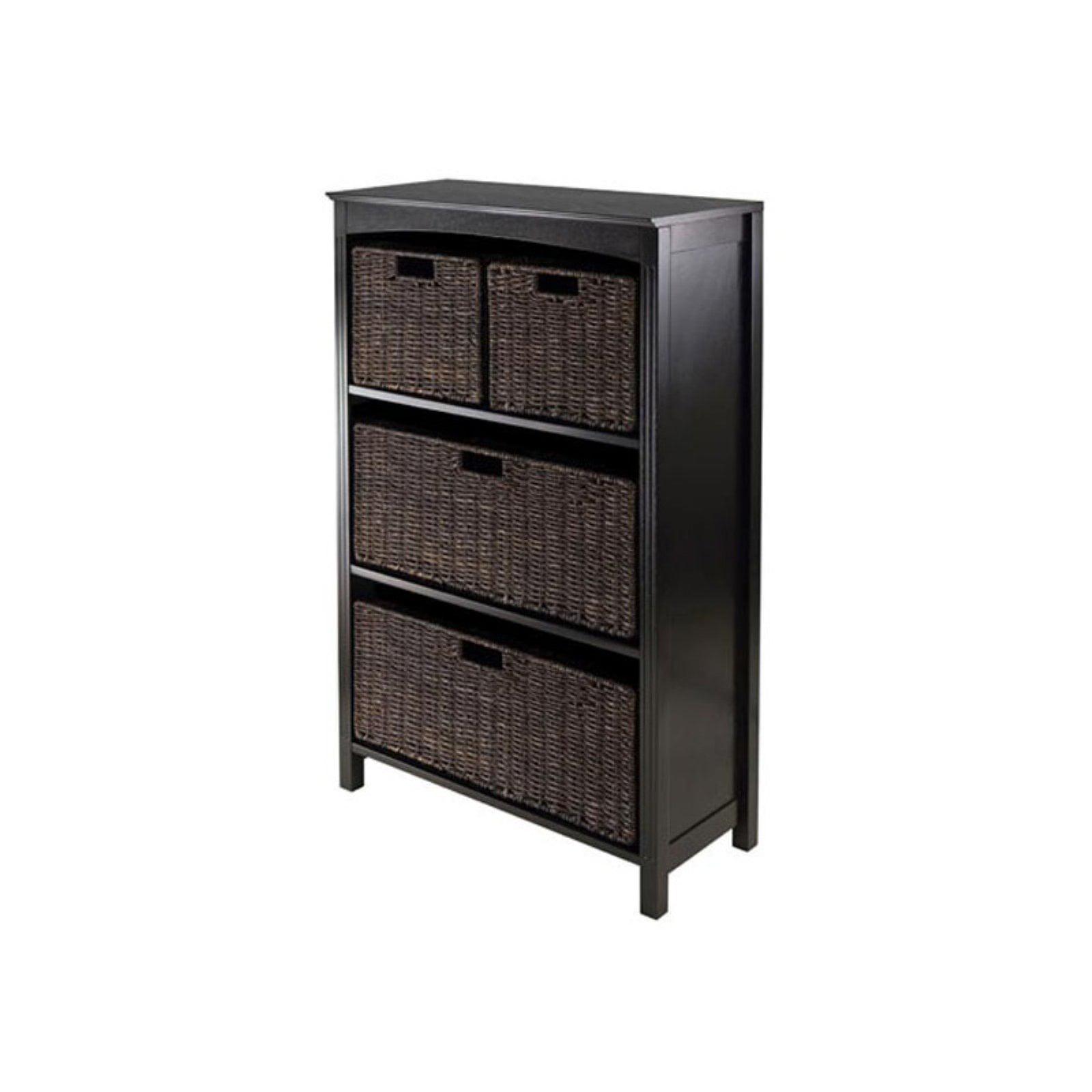 5pc Storage 4-Tier Shelf, w/2 Large & 2 Small Baskets