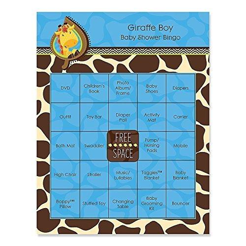 Giraffe Boy - Baby Shower Game Bingo Cards - 16 Count