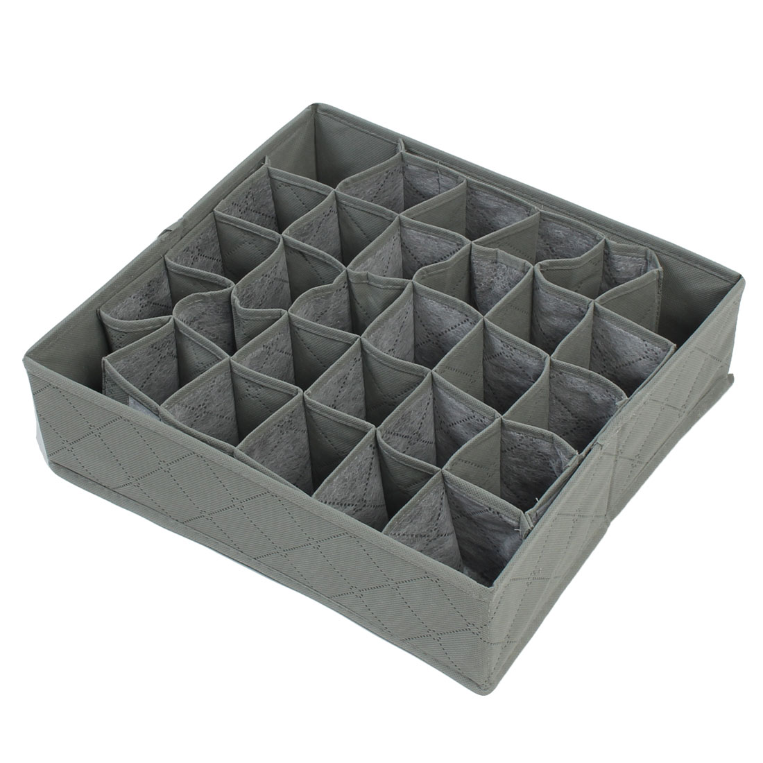 Drawer Folding 30 Compartment Tie Necktie Socks Organizer Storage Box