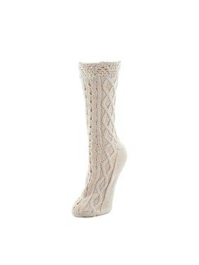 c5a361fae94 Product Image MeMoi Mixed Patterns Chunky Knit Crew Socks One Size    Oatmeal MF6 5620