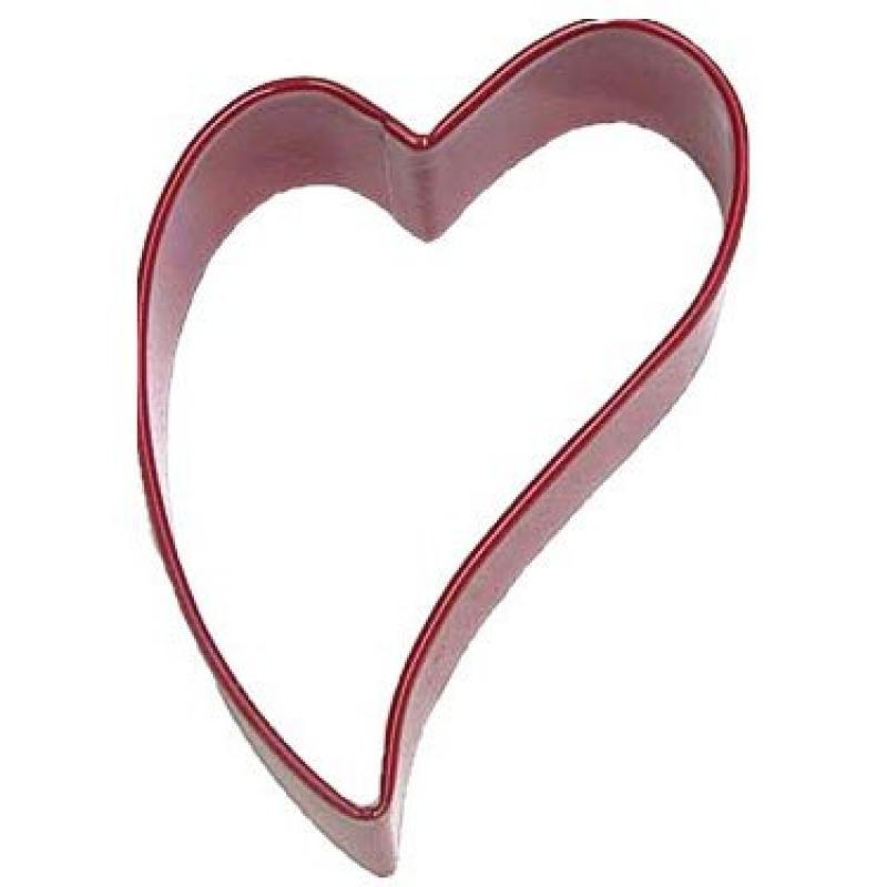 "Heart Folk Red Poly Resin Coated Tin Cookie Cutter 3"" Pr1360r"