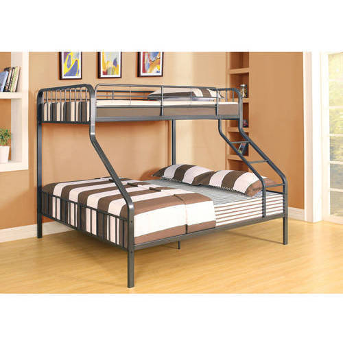 acme furniture jason espresso twin/queen bunk bed - walmart