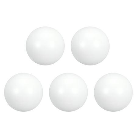 PTFE Ball, 10mm Dia, Ground Finish, Diaphragm Pneumatic Pump White, 5pcs