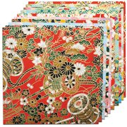 "Fold 'Ems Origami Paper 5.875"" 10/Pkg-Yuzen Red"