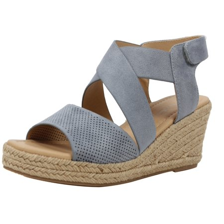 a43e15e8648 City Classified Women s Perforated Peep Toe Mid Wedge Espadrille (Blush
