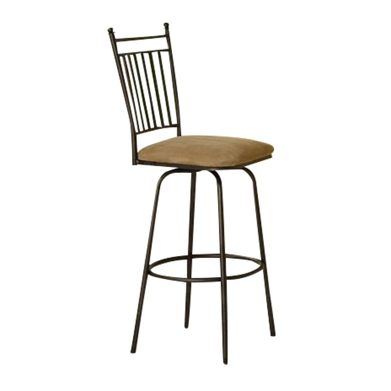 Linon Metal Adjustable Swivel Bar Stool In Brown Set Of 3