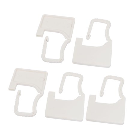 5Pcs 60mm x 38mm x 3.6mm Plastic Seal Padlock White for Luggage Trunk