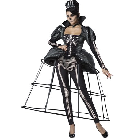 Adult Women Skeleton Costume (Skeleton Queen Womens Adult Royalty Princess Halloween)
