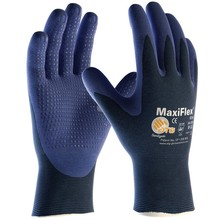 PIP 34-244/L Large MaxiFlex Elite by ATG Ultra Light Weight Blue Micro-Foam Nitrile Palm And Finger Tip Coated Work Glove With Blue Seamless Nylon Knit Liner And Continuous Knitwrist (1/PR)