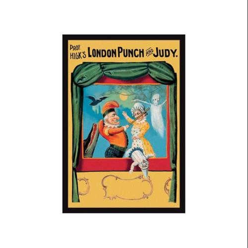 Prof. Hicks London Punch And Judy Print (Unframed Paper Print 20x30)