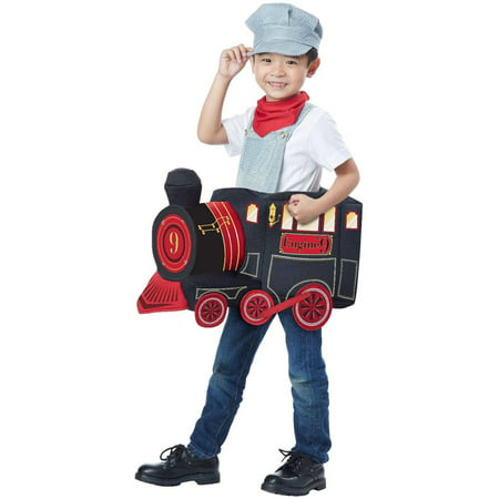 Train Rider Child Halloween Costume, 1 - Female Train Conductor Costume