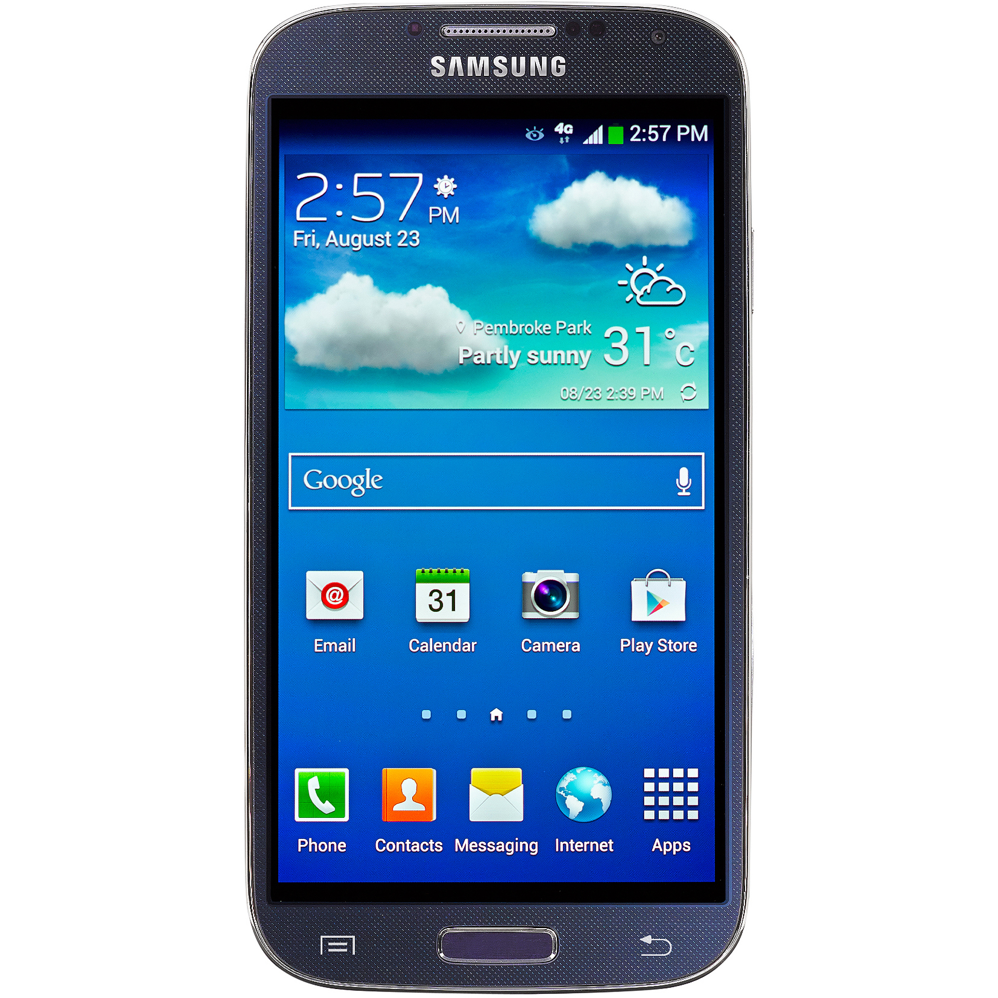 Straight Talk Samsung Galaxy S4 16GB Prepaid Smartphone, Black