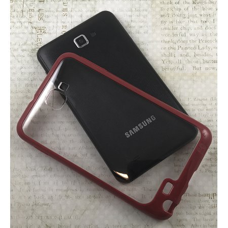 Galaxy Note Case, RED CLEAR AQUAFLEX TPU SKIN CASE COVER FOR SAMSUNG GALAXY NOTE 1 PHONE ( i9220 i717 N7000 T879) 1st