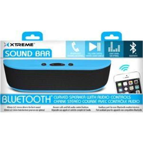 Soundbar Curved Bluetooth Speaker, Blue