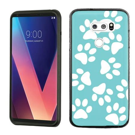 huge selection of 8992b 45e35 Slim-Fit Case for LG V30, OneToughShield ® Scratch-Resistant TPU Protective  Phone Case (Black Bezel) - Pet Paw / Teal