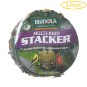 Birdola Multi-Bird Stacker Cake 6.4 oz - Pack of 2