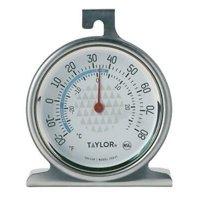 4 PK Taylor Precision Products TruTemp Freezer/Refrigerator Thermometer NSF Stainless Steel