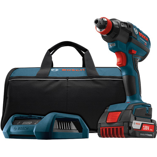 Bosch IDH182WC-101 18V 4.0 Ah Cordless Lithium-Ion EC Brushless 1 4 in. & 1 2 in. Impact... by Bosch