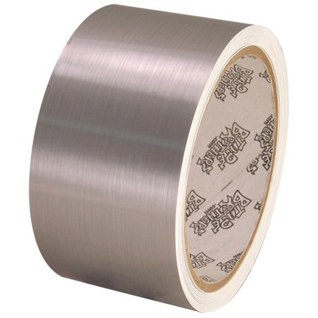 Tape Planet Brushed Chrome 2 inch x 10 yards Metalized Polyester Tape - Crime Tape
