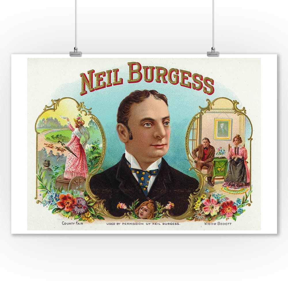 Cigar Box Wall Art: Neil Burgess Brand Cigar Box Label (9x12 Art Print, Wall