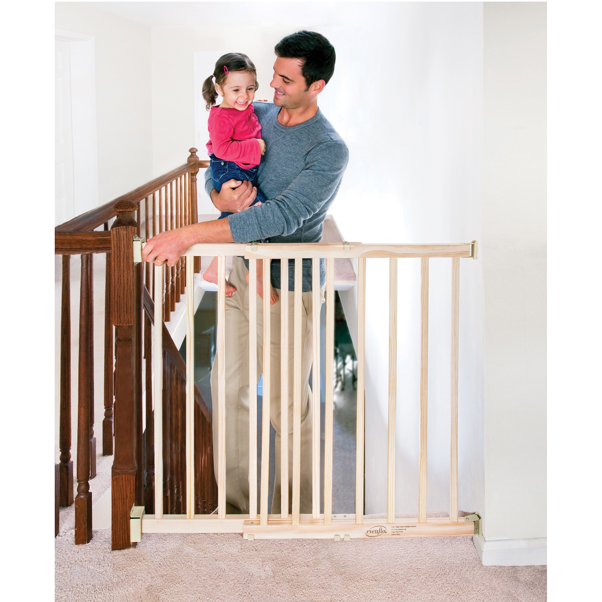 evenflo extra tall top of stairway baby gate  with swing  - evenflo extra tall top of stairway baby gate  with swing door walmartcom