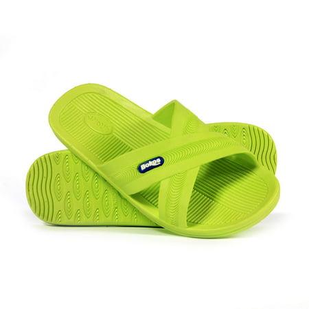 Apple Sandals (Bokos Durable Green Apple Anti Slip Womens Sandals Easy to Clean Odor Resistant Sz 10 )