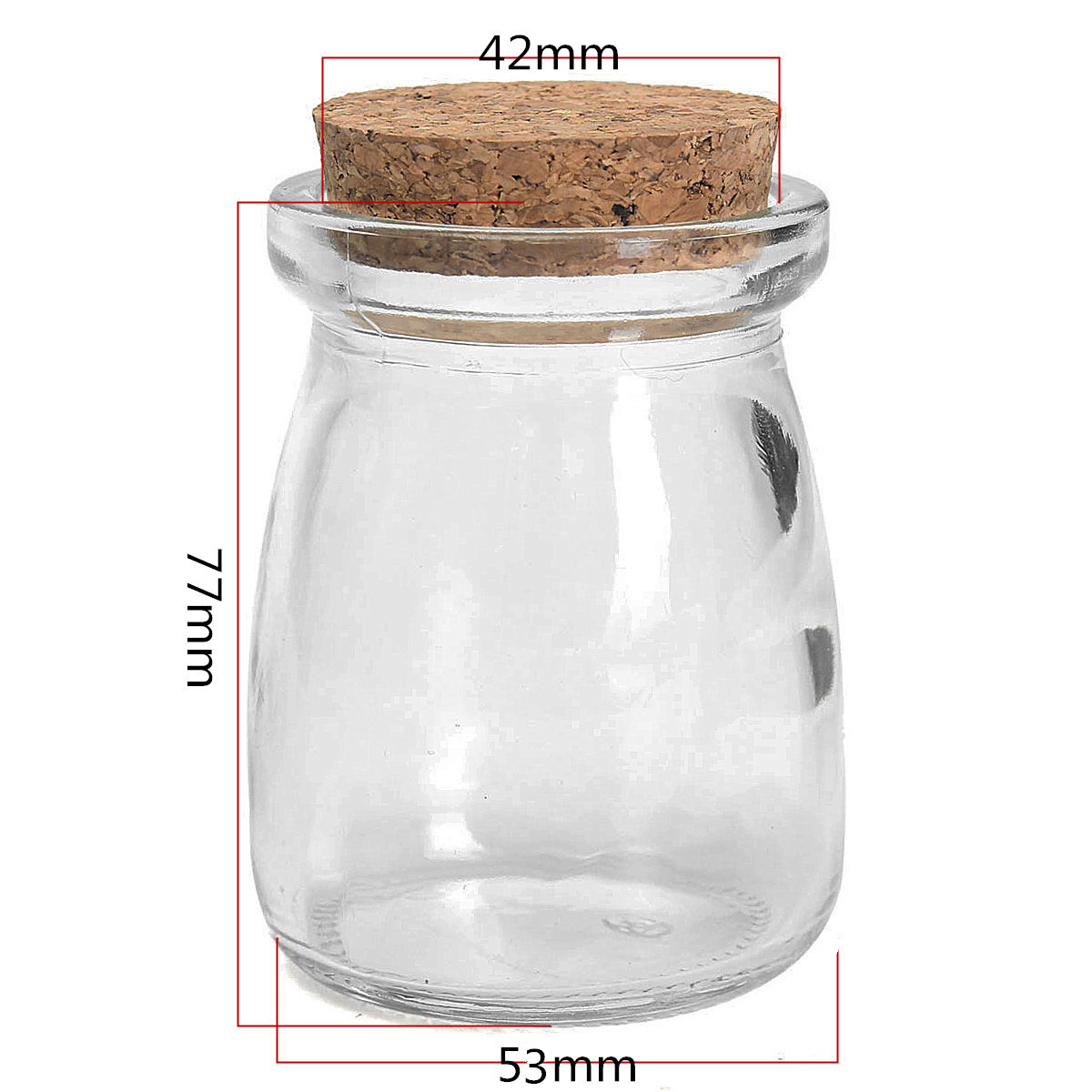 2pcs Mini Small Clear Glass Storage Bottle Jars Vial Container With