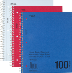 DuraPress Cover Wirebound Notebook 1-Subject/College Ruled - Quantity of 24 - PT -  6546