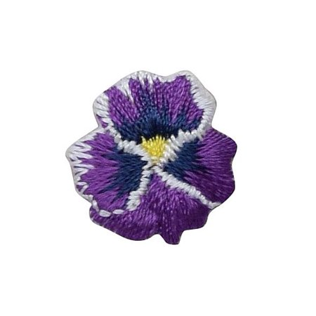 Pansies - Violet - Pansy Flower - Small Mini - Iron on Applique/Embroidered Patch