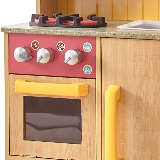 5ad752ca93f Teamson Kids - Little Chef Florence Classic Play Kitchen - Wood Grain -  Walmart.com