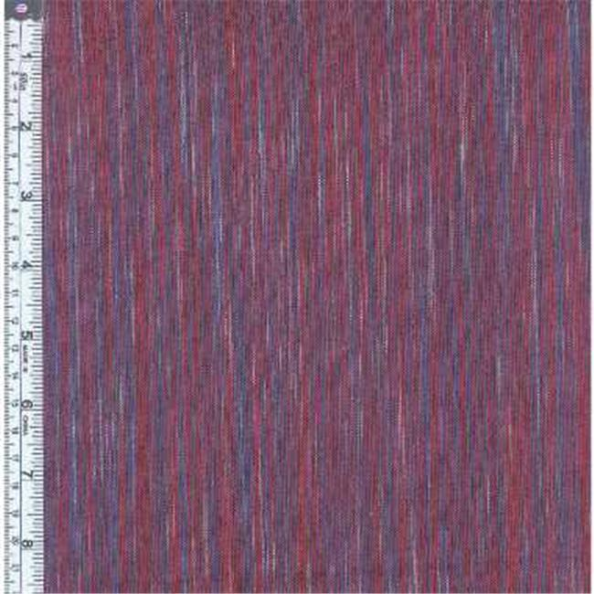 Textile Creations OR-031 Ombre Ridge Fabric, Vertical Stripe Navy And Red, 15 yd.