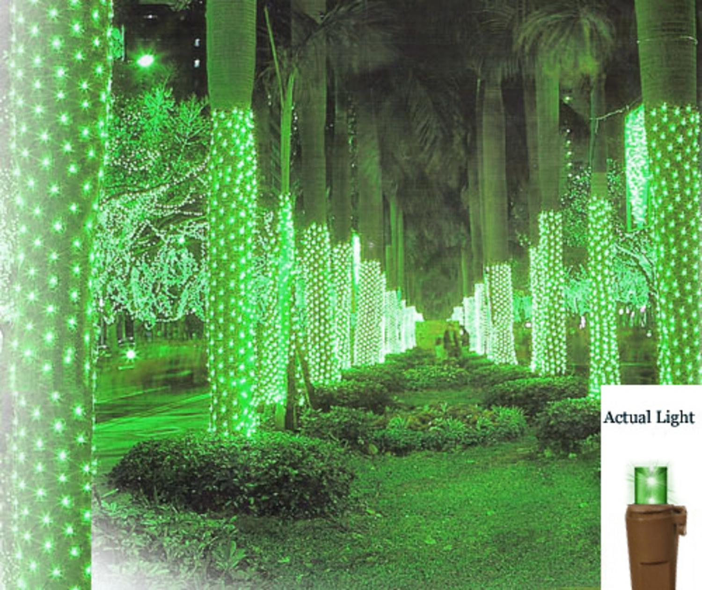 2 x 8 green led net style tree trunk wrap christmas lights brown wire walmartcom