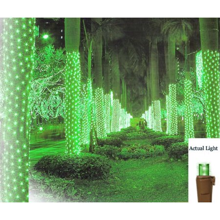 2 x 8 green led net style tree trunk wrap christmas lights brown